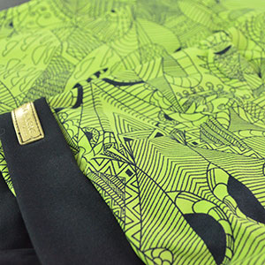Verde Desenhos Pretos