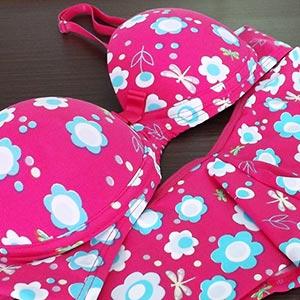 Rosa Pink Flores Azuis