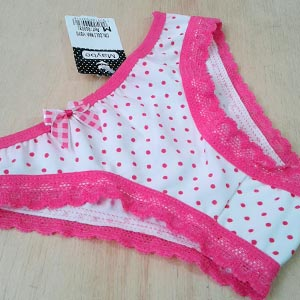 Viés pink/poá pink