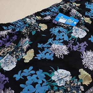 Estampa Floral Azul Lilás Preto