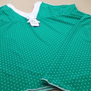 Verde/ Poá Branco