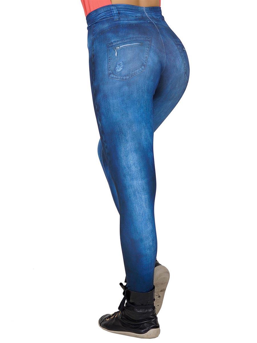 Calça Fitness Fake Jeans Tati