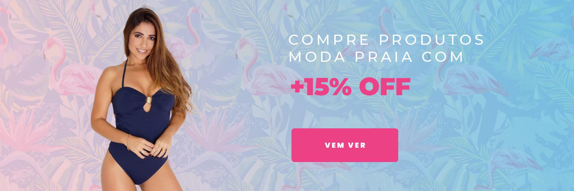 Moda Praia com +15% OFF